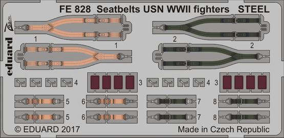 Seatbelts USN WWII fighters STEEL 1/48