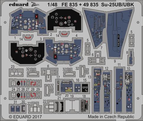 Su-25UB/UBK interiér 1/48  - 1