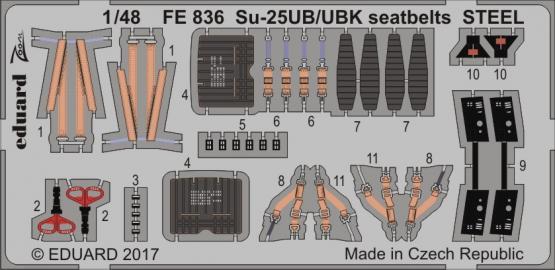 Su-25UB/UBK seatbelts STEEL 1/48