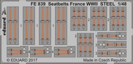 シートベルト フランス WWII スチール 1/48