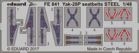 Yak-28P seatbelts STEEL 1/48