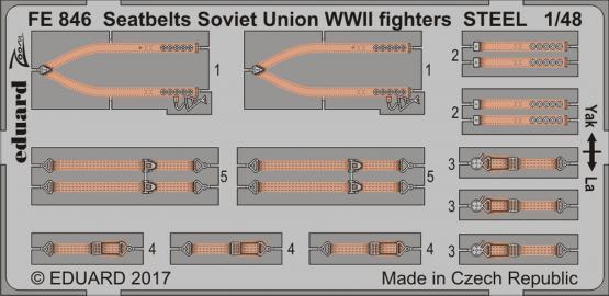 Upínací pásy Sovětský svaz, stíhačky 2.sv.v. OCEL 1/48
