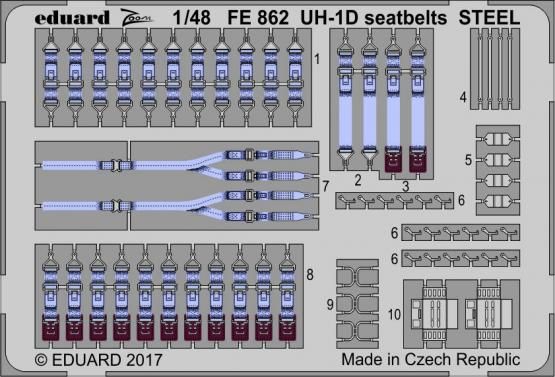 UH-1D seatbelts STEEL 1/48