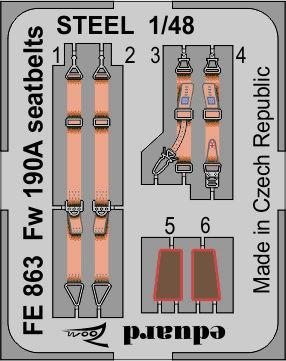 Fw 190A стальные ремни 1/48