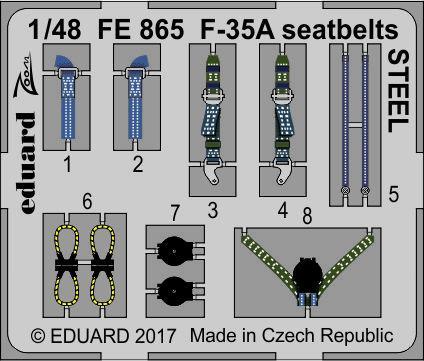 F-35A seatbelts STEEL 1/48