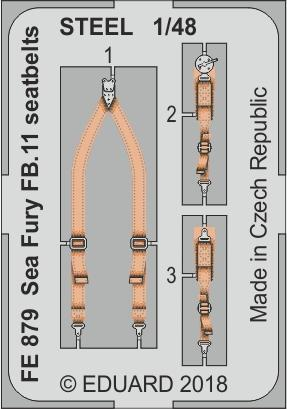 Sea Fury FB.11 seatbelts STEEL 1/48