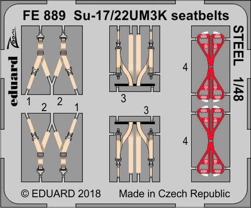 Su-17/22UM3K seatbelts STEEL 1/48