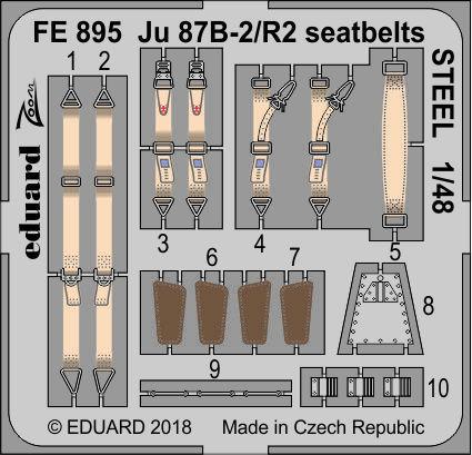 Ju 87B-2/R2 seatbelts STEEL 1/48