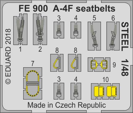 A-4F upínací pásy OCEL 1/48
