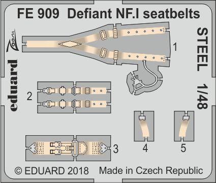 Defiant NF.I upínací pásy OCEL 1/48