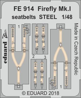 Firefly Mk.I seatbelts STEEL 1/48