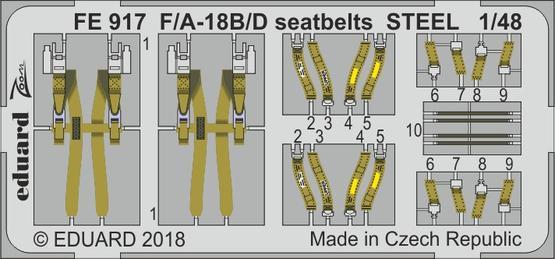 F/A-18B/D seatbelts STEEL 1/48