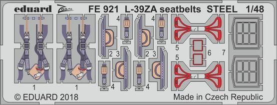 L-39ZA seatbelts STEEL 1/48