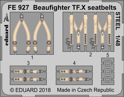Beaufighter TF.X seatbelts STEEL 1/48