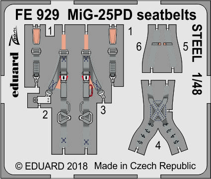 MiG-25PD seatbelts STEEL 1/48