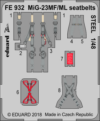 MiG-23MF/ML seatbelts STEEL 1/48