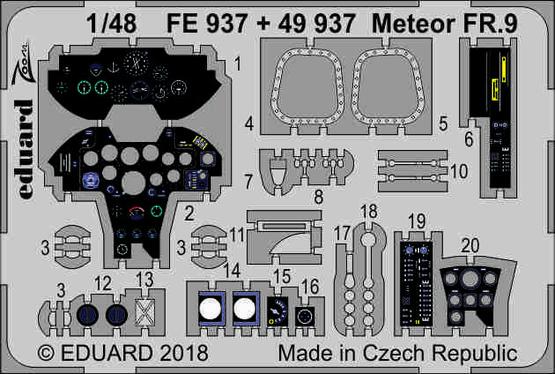 Meteor FR.9 interior 1/48  - 1