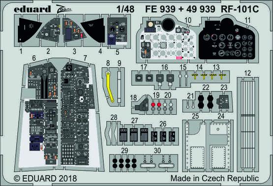 RF-101C интерьер 1/48  - 1
