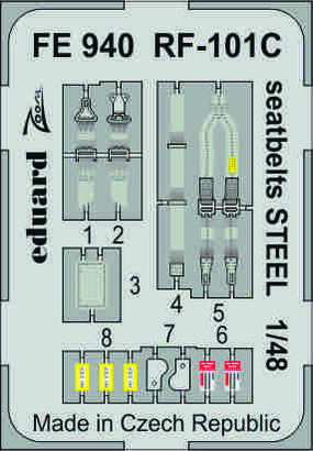 RF-101C seatbelts STEEL 1/48