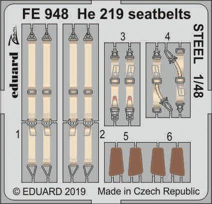 He 219 seatbelts STEEL 1/48