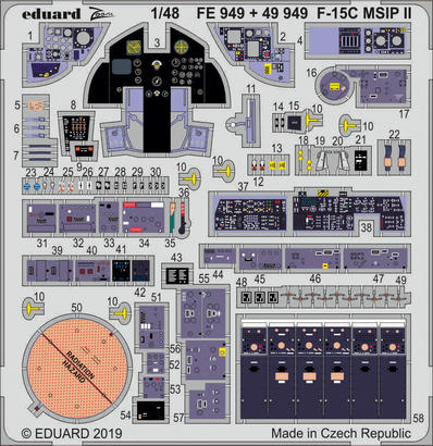 F-15C MSIP II interior 1/48  - 1