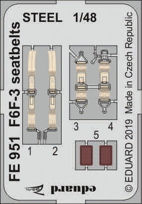 F6F-3 seatbelts STEEL 1/48