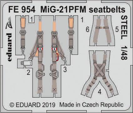 MiG-21PFM seatbelts STEEL 1/48