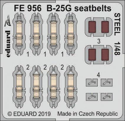 B-25G シートベルト スチール 1/48