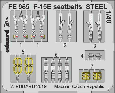 F-15E seatbelts STEEL 1/48