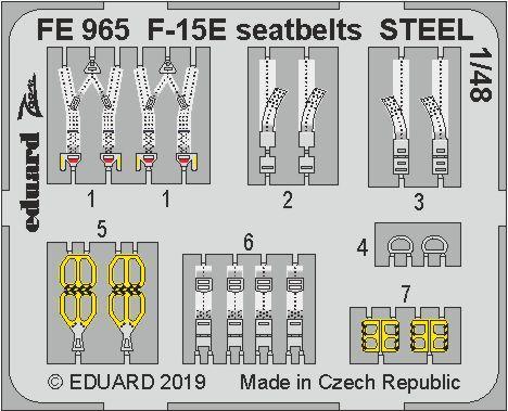 F-15E стальные ремни 1/48