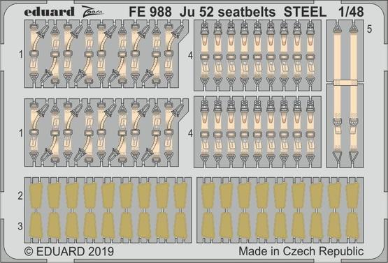Ju 52 стальные ремни 1/48