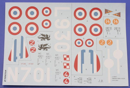 French WWII acces; H75/MS-406  1/48 1/48