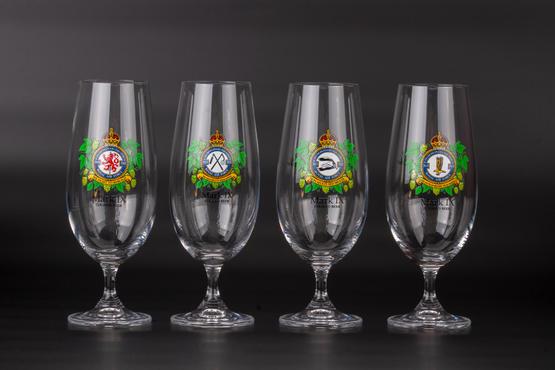 Beer Glass Set - Czechoslovak Squadrons RAF (4pcs)