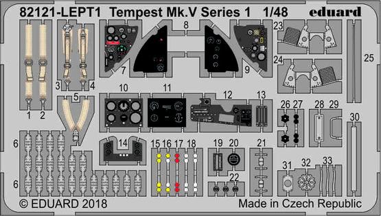 Tempest Mk.V, фототравление 1/48
