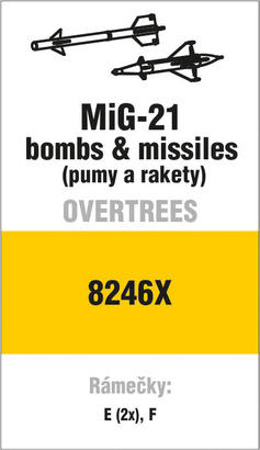 MiG-21 bombs & missiles OVERTREES 1/48 1/48