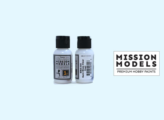 Mission Models Paint - Semi Gloss Clear Coat 30ml