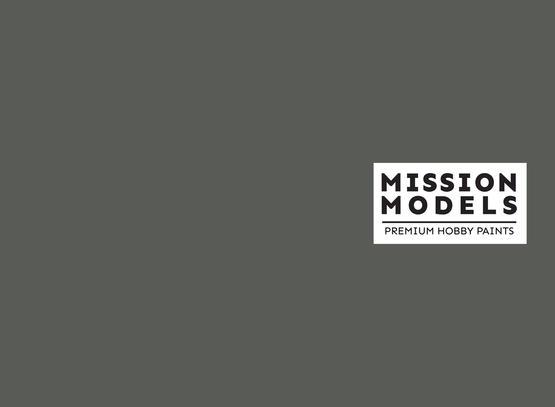 Краска Mission Models - серая, Panzergrey RAL 7021 30 мл