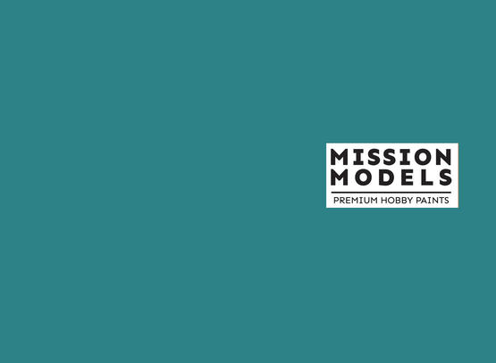 Mission Models Paint - Aotake Blue Green Clear Coat (Over Faded Alum) 30ml