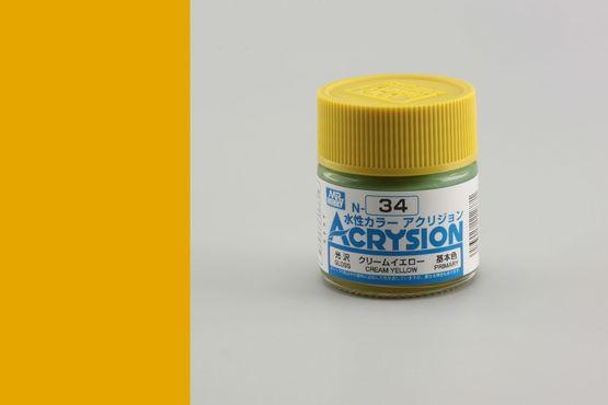 Acrysion - krémově žlutá