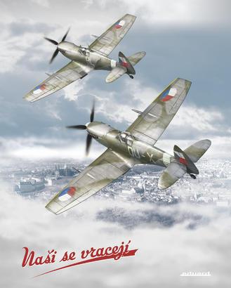 """Poster """"Nasi se vraceji"""" – Spitfires Over Prague"""