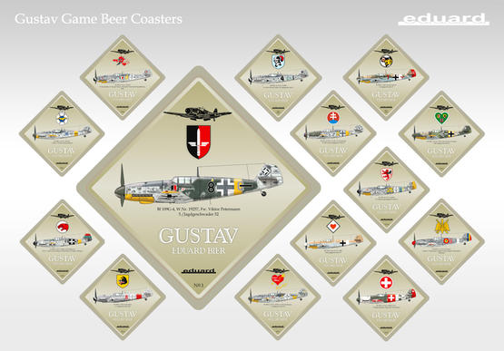 Gustav Beer Coaster - collectable edition (1 pcs)