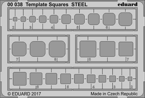 Стальной шаблон для квадратов
