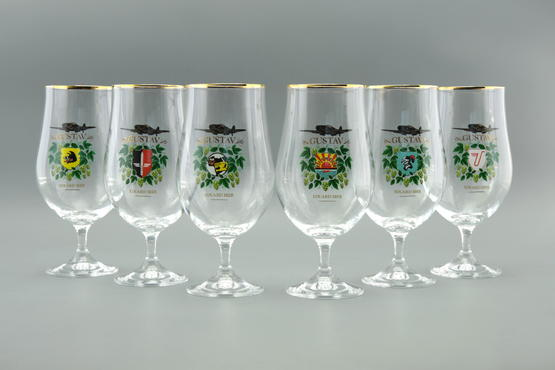 Eduard Gustav Beer glass collection