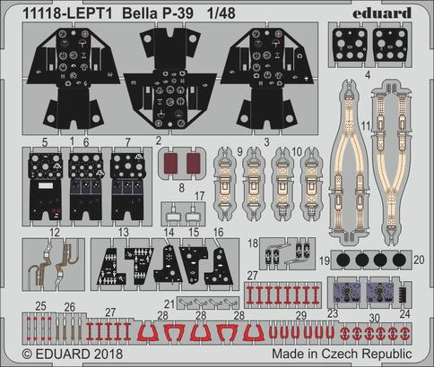 Bella P-39 PE-set 1/48  - 1