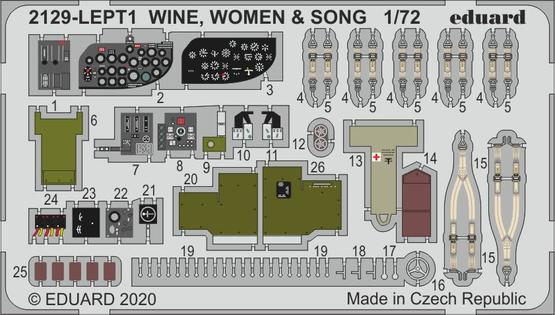 WINE, WOMEN & SONG PE-set 1/72  - 1