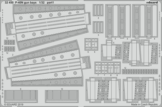 P-40N 機関砲収納室 1/32  - 1