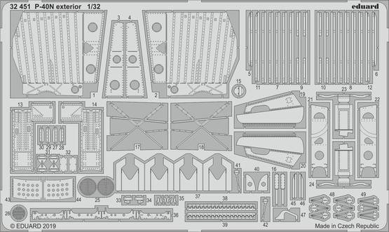 P-40N 外装 1/32