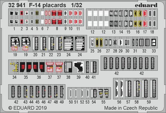 F-14 placards 1/32