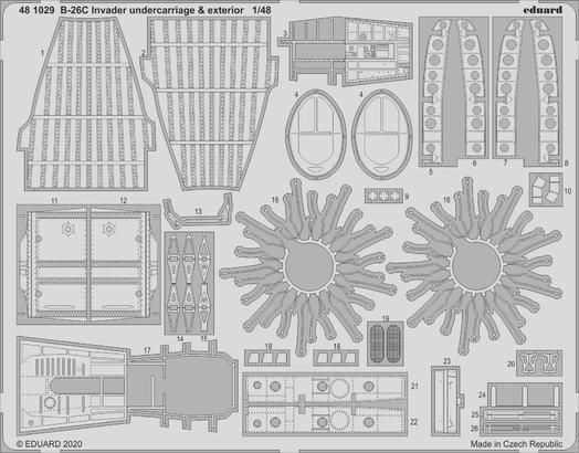 B-26C Invader undercarriage & exterior 1/48