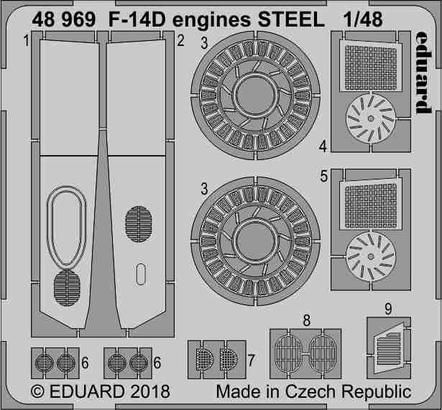 F-14D engines STEEL 1/48